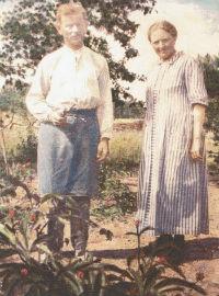 Trädgårdsmästare KG Boberg med hustru Anna